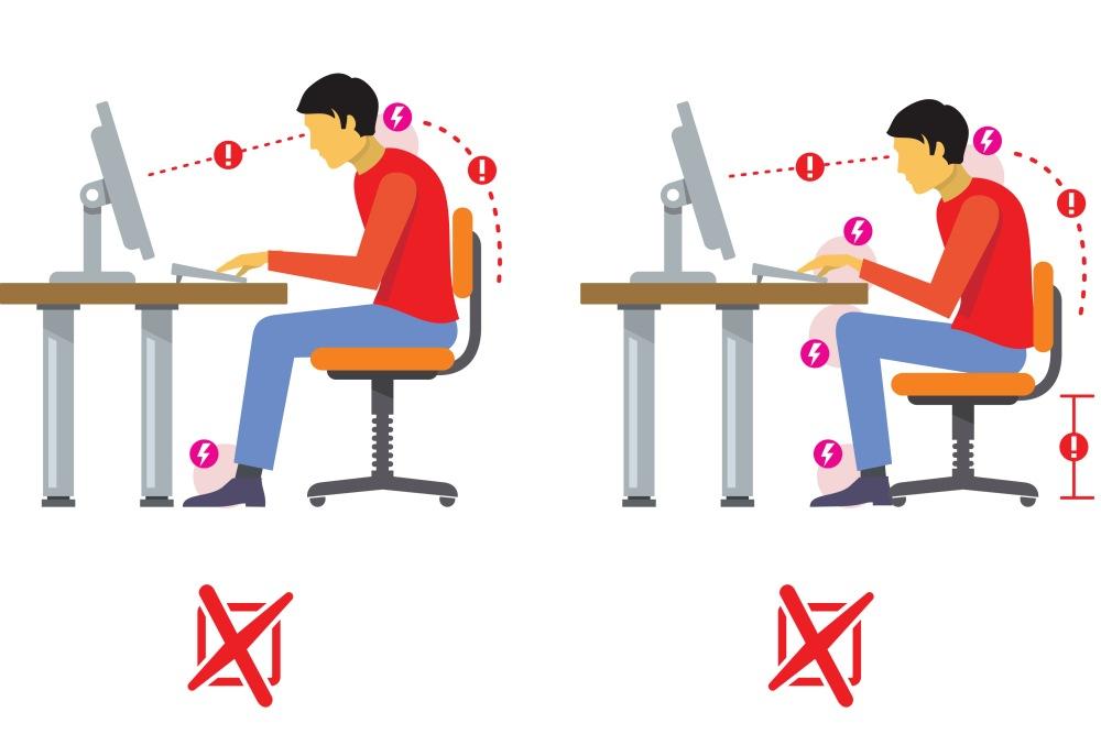 postura correcta frente al ordenador